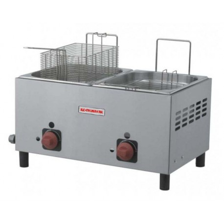 FRYER: TWO BASKET, 2 WELL - LP GAS
