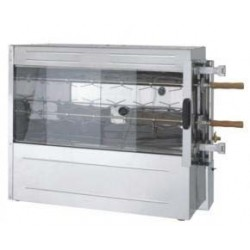 CHICKEN ROTISSERIE 2 SPIT - STAINLESS STEEL - LP GAS