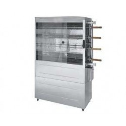 CHICKEN ROTISSERIE 4 SPIT - STAINLESS STEEL - LP GAS