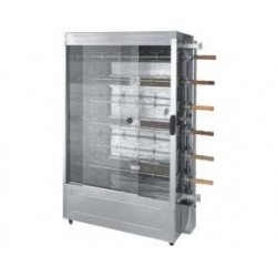 CHICKEN ROTISSERIE 6 SPIT - STAINLESS STEEL - LP GAS